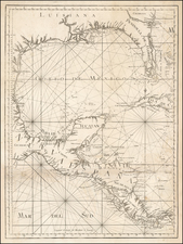 Florida, South, Southeast, Texas, Mexico and Central America Map By Tomás López