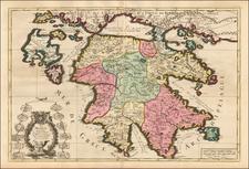 Greece Map By Alexis-Hubert Jaillot