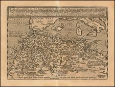 Mediterranean and North Africa Map By Matthias Quad / Johann Bussemachaer