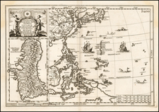 China, Japan, Philippines and Other Islands Map By Heinrich Scherer