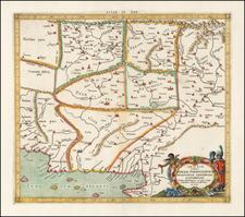 [Pakistan Afghanistan & Western India] Tab: IX Asia Continens Ariam, Paropanisum, Drangianam, Arachosiam, et Gedrosiam. . . . By  Gerard Mercator