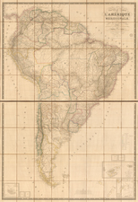 South America Map By Adrien-Hubert Brué / Charles Picquet
