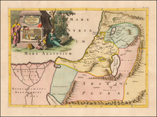 Middle East and Holy Land Map By Francois Halma