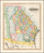 Southeast and Georgia Map By Fielding Lucas Jr.