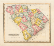 South Carolina Map By Fielding Lucas Jr.