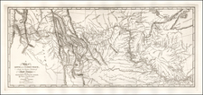 United States, Midwest, Plains, Southwest, Rocky Mountains and Canada Map By William Clark  &  Meriwether Lewis