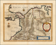 South America and Colombia Map By Willem Janszoon Blaeu