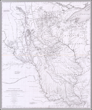 Midwest, Illinois, Michigan, Minnesota, Wisconsin, Plains, Iowa, Missouri, North Dakota and South Dakota Map By Joseph N. Nicollet / William Hemsley Emory