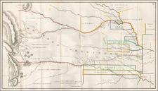 Plains, Kansas, Nebraska, Oklahoma & Indian Territory, Colorado, New Mexico, Colorado and Wyoming Map By Col. Henry P. Dodge / Lt. Enoch Steen