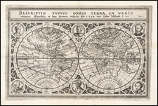 World and World Map By Levinus Hulsius