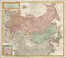 China, Japan, Korea, India, Other Islands, Central Asia & Caucasus and Russia in Asia Map By Homann Heirs / Johann Matthaus Haas