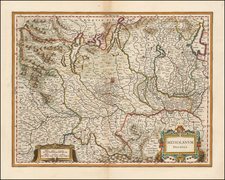 Northern Italy Map By Willem Janszoon Blaeu