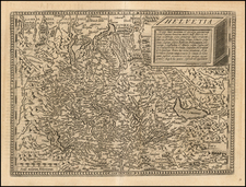 Switzerland Map By Matthias Quad / Johann Bussemachaer