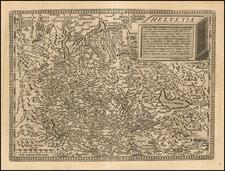 Switzerland Map By Matthias Quad / Johann Bussemachaer