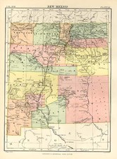 Southwest Map By W. & A.K. Johnston