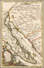 Southwest, Mexico, Baja California and California Map By John Gibson
