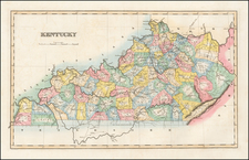 Kentucky Map By Fielding Lucas Jr.