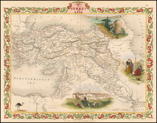Turkey, Middle East and Turkey & Asia Minor Map By John Tallis