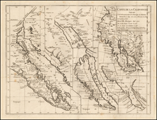 Baja California, California and California as an Island Map By Denis Diderot / Didier Robert de Vaugondy