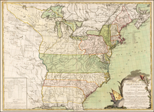 United States, New England, Mid-Atlantic and South Map By Jacques Esnauts  &  Michel Rapilly