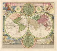 World and Celestial Maps Map By Johann Baptist Homann