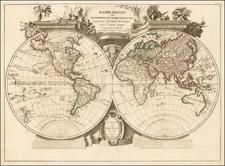 World Map By Joseph Remondini & Fils
