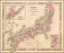Japan Map By Benjamin P Ward  &  Alvin Jewett Johnson