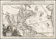 North America and California as an Island Map By Gabriel Bodenehr / Georg Christoph Kilian