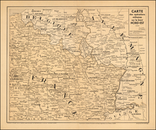 France and Germany Map By La Societe Nord Africaine De Photograveur