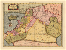 Balearic Islands, Middle East and Holy Land Map By Gerhard Mercator