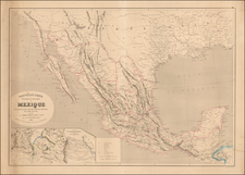 Texas, Plains, Southwest, Rocky Mountains and Mexico Map By Alexandre Vuillemin