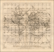 World and World Map By Pierre Moullart Sanson