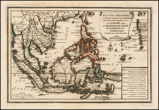 Southeast Asia and Philippines Map By Nicolas de Fer
