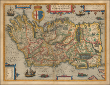 British Isles and Ireland Map By Abraham Ortelius / Johannes Baptista Vrients