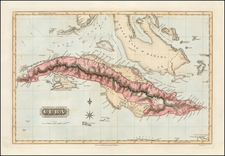 Florida, Cuba and Bahamas Map By Fielding Lucas Jr.