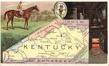 South and Kentucky Map By Arbuckle Brothers Coffee Co.