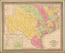 Texas Map By Thomas, Cowperthwait & Co.