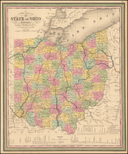 A New Map Of The State of Ohio . . . By Thomas, Cowperthwait & Co.