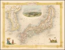 Japan and Korea Map By John Tallis