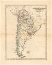 Chile, Paraguay & Bolivia and Peru & Ecuador Map By Friedrich Wilhelm Spehr