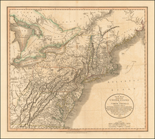 New England and Mid-Atlantic Map By John Cary