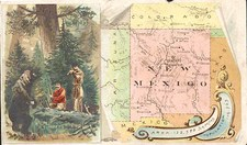 Southwest and New Mexico Map By Arbuckle Brothers Coffee Co.