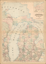 Michigan Map By Asher  &  Adams