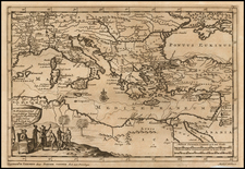 Greece, Turkey, Mediterranean and Turkey & Asia Minor Map By Pieter van der Aa