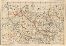 India and Central Asia & Caucasus Map By Anonymous