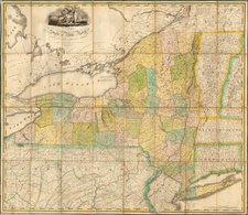 New York State Map By John H. Eddy