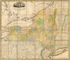 New York State Map By John H. Eddy