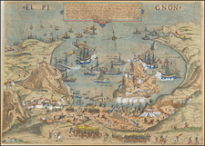 North Africa Map By Giovanni Francesco Camocio / Domenico Zenoi / Stefano Scolari