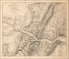 Maryland, West Virginia, Virginia and Civil War Map By U.S. Army Corps of Topographical Engineer