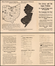 New Jersey Map By Anti-Saloon League of New Jersey